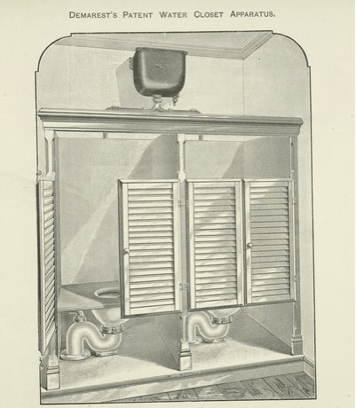 demarest patent water closet apparatus