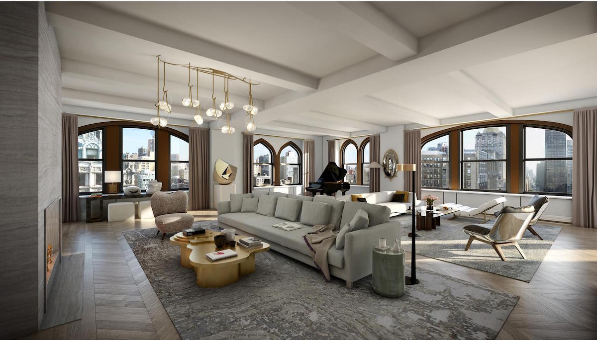 212 fifth avenue, nomad, cool listings, penthouse, triplex, terrace, outdoor space, big ticket