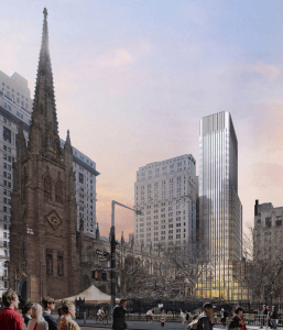 74 trinity place, Trinity Church Wall Street, Pelli Clarke Pelli, Trinity Church tower