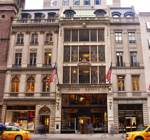 Coty Building with Rene Lalique windows, now occupied by Henri Bendel. 714 Fifth Avenue.
