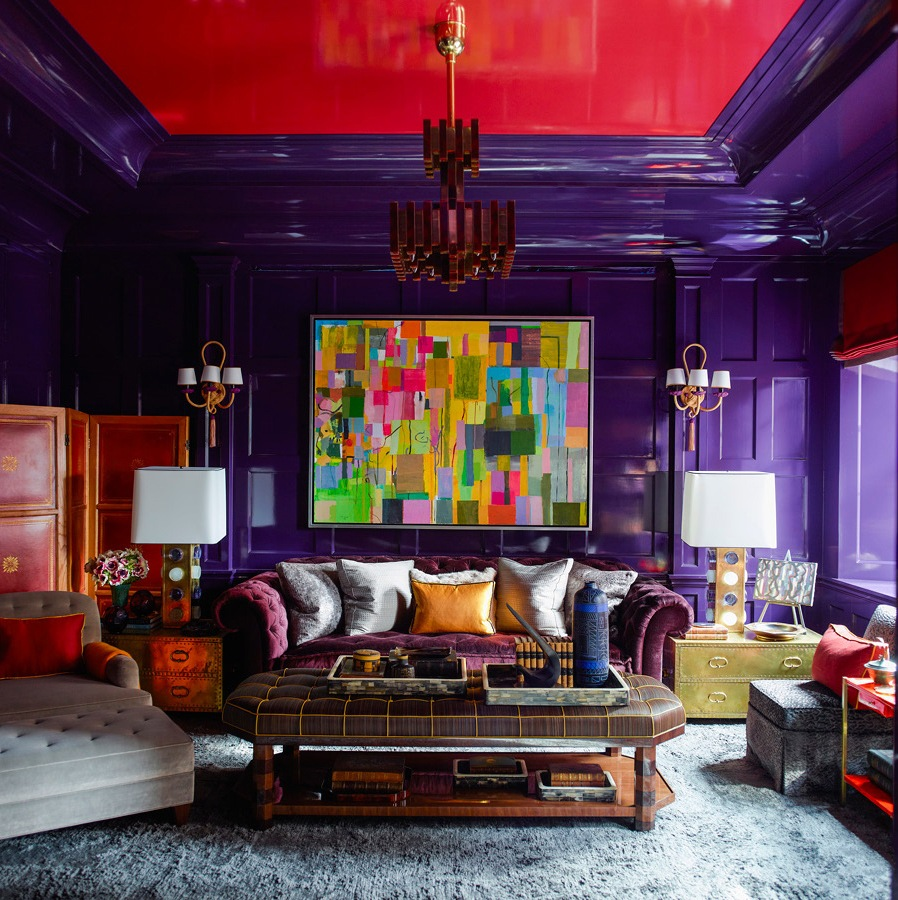 Spectacular Upper East Side Apartment Is Enlivened With Vivid Colors And Uncommon Shapes