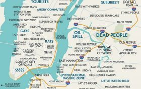 Judgmental Maps, Trent Gillaspie, Maps, New York City, Manhattan Brooklyn, Neighborhoods, Cartography, book,