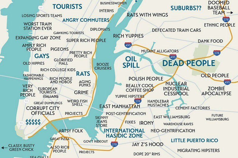 Modern Us Map.Judgmental Maps Unleash Culture On The Geography Of Modern Cities