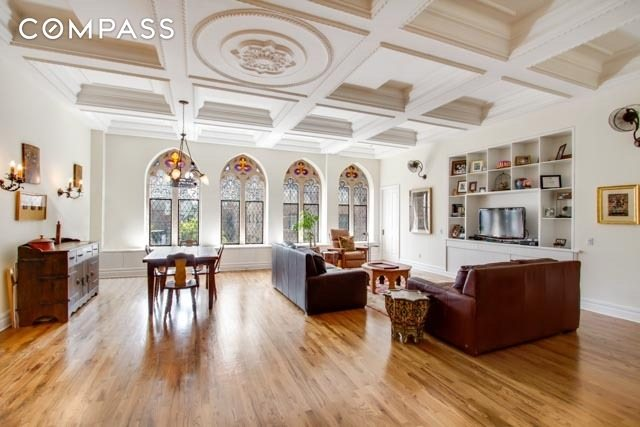 Church details adorn this $6.35M triplex condo in Gramercy