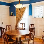 Only the dining and living rooms were painted in new colors, the others are original hues