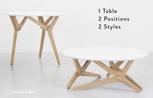 boulon blanc, transforming table