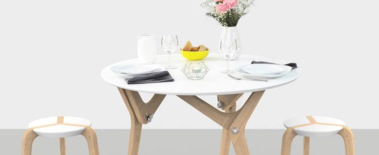 boulon blanc, transforming table