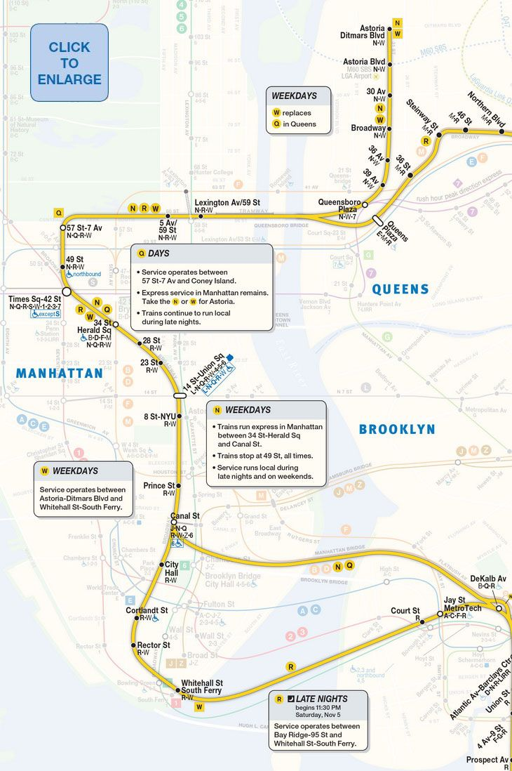The W Train Returns Today See The Mta S New Service Map 6sqft