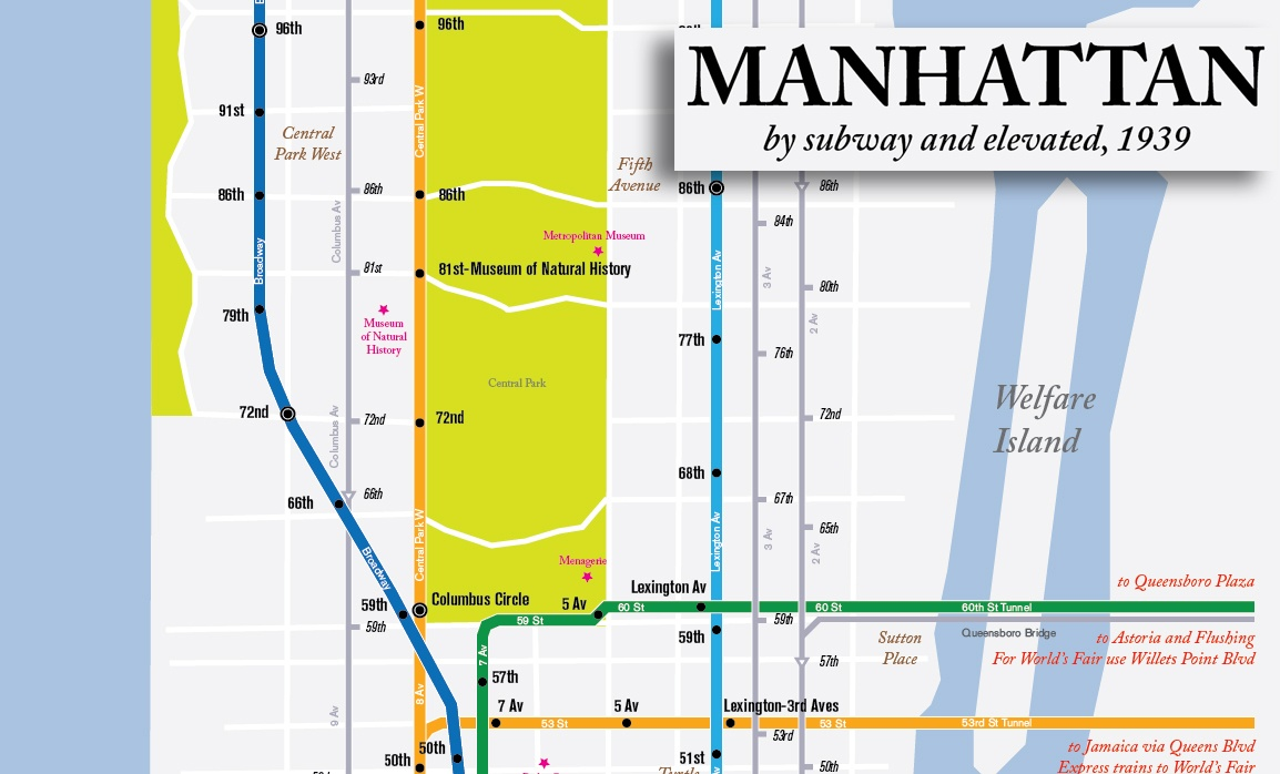 Subway Map For New York City.Map Here S What The Nyc Subway System Looked Like In 1939 6sqft