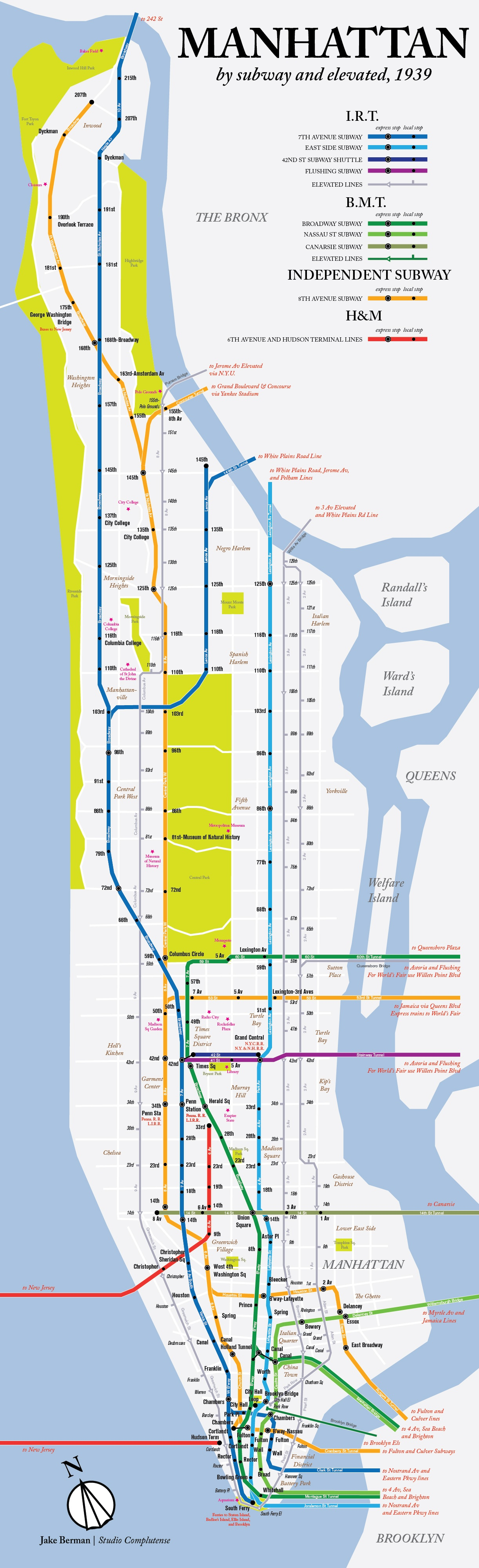 Subway Map New York Manhatten.Map Here S What The Nyc Subway System Looked Like In 1939 6sqft