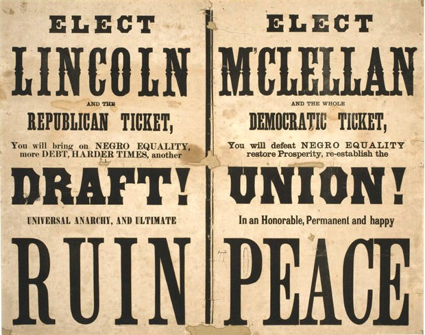Presidential election of 1864, campaign poster