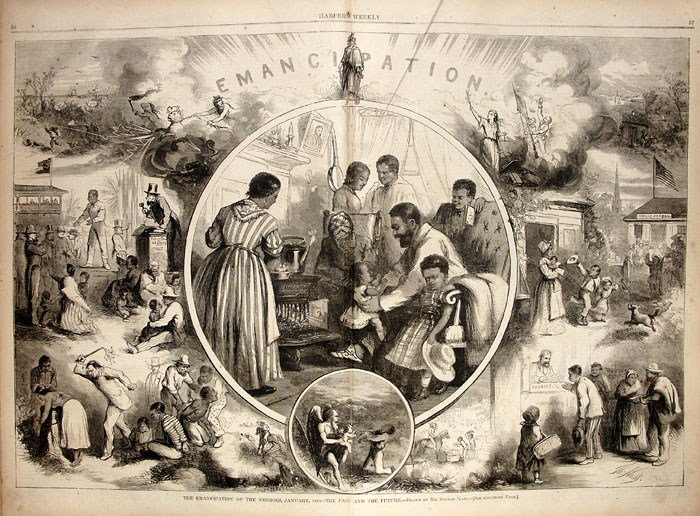 Presidential election of 1864. Political drawing by Thomas Nash