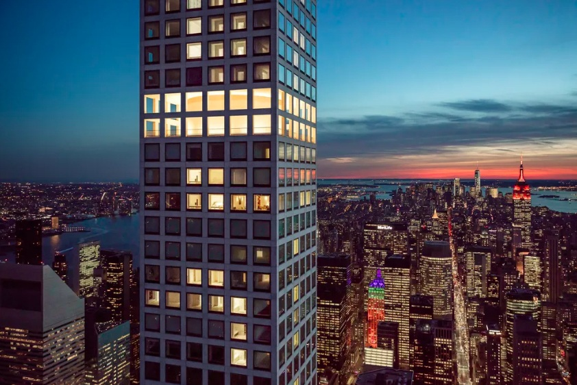 432 park, 432 park avenue, rafael vinoly, 432 park lighting design