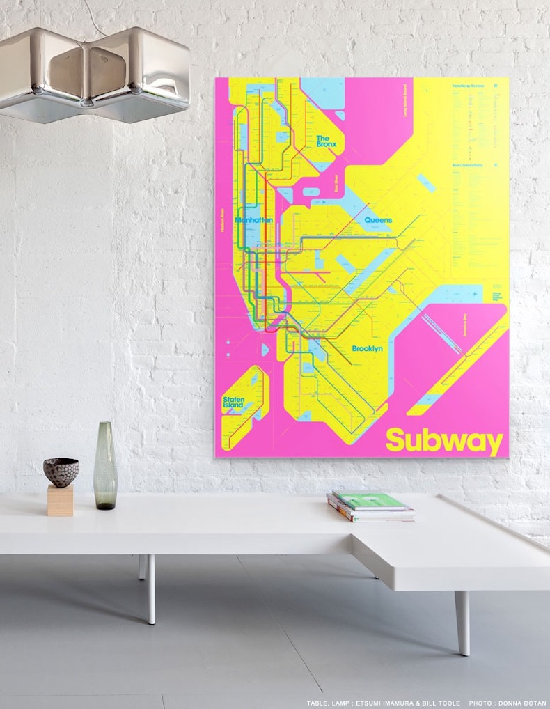 Triboro\'s Wrong Color Subway Map uses art as an antidote for subway ...