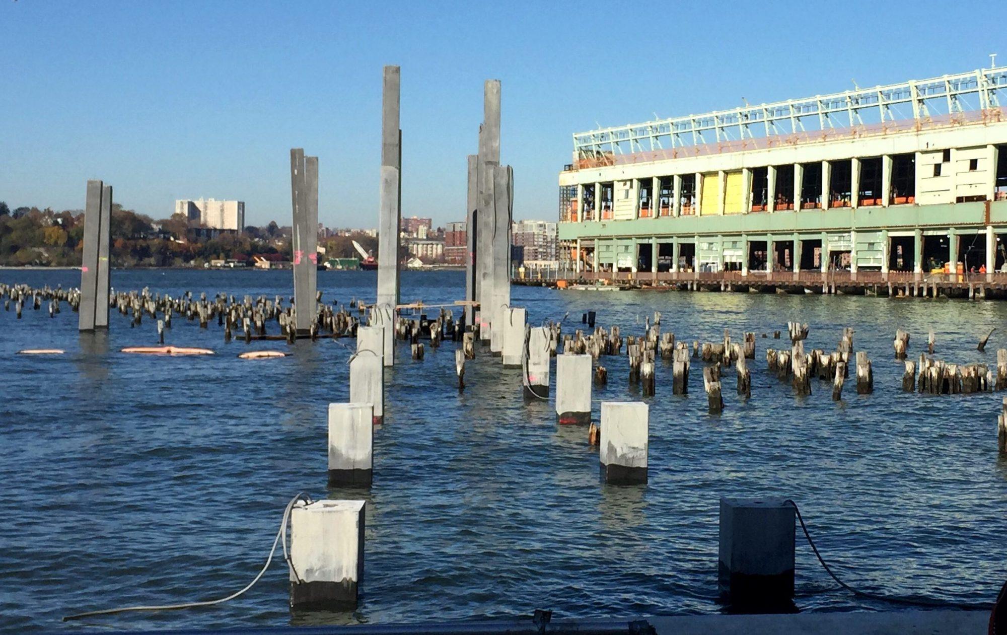 Construction update: Pier 55's 535 concrete columns rise