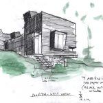 Stephen Holl, renovated hunting shack, green renovation, Space T2, Rhinebeck