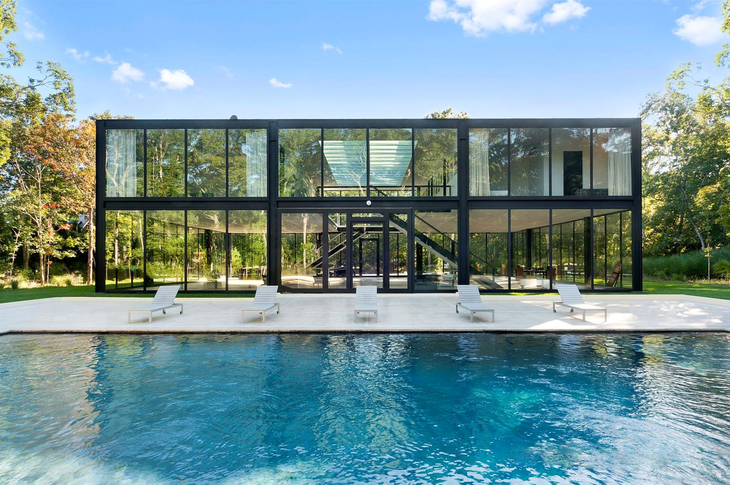 Design A Blueprint Own A Glass Box Hamptons Home Designed By One World Trade