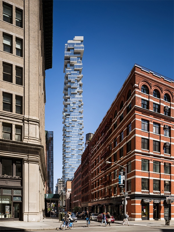 56 leonard, jenga tower tribeca