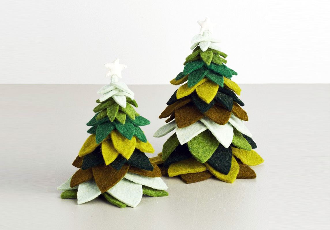 felt christmas trees - Christmas Tree Com