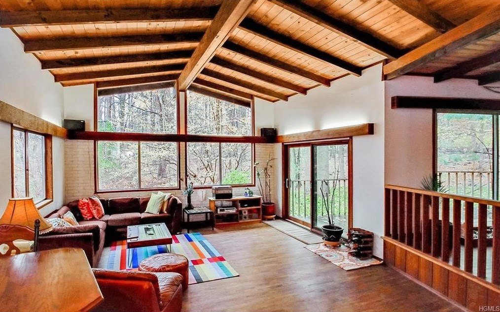 harmonize with nature in this 488k mid century modern home in the ramapo foothills