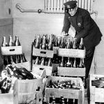 NYC Police inspect confiscated alcohol