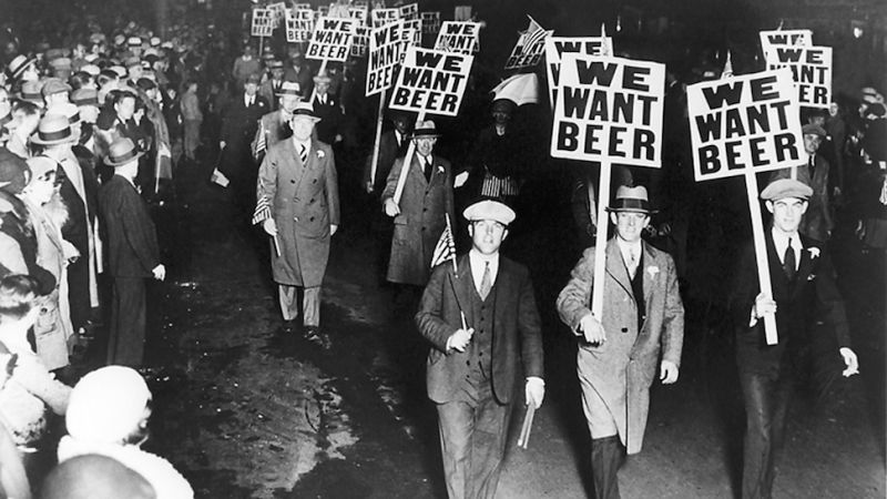 Beer Parade in NYC 1932