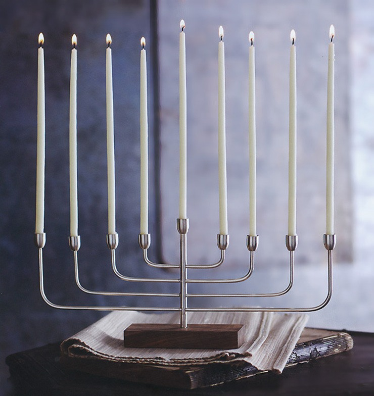 modern menorah design