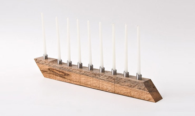 modern menorah design, Less & More