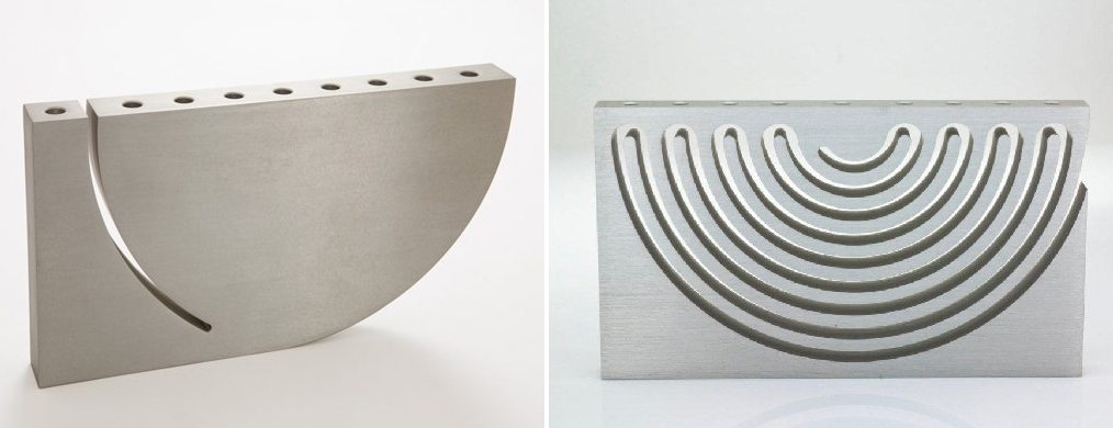 modern menorah design, Sari Srulovitch