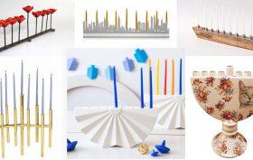designer menorahs, modern menorahs