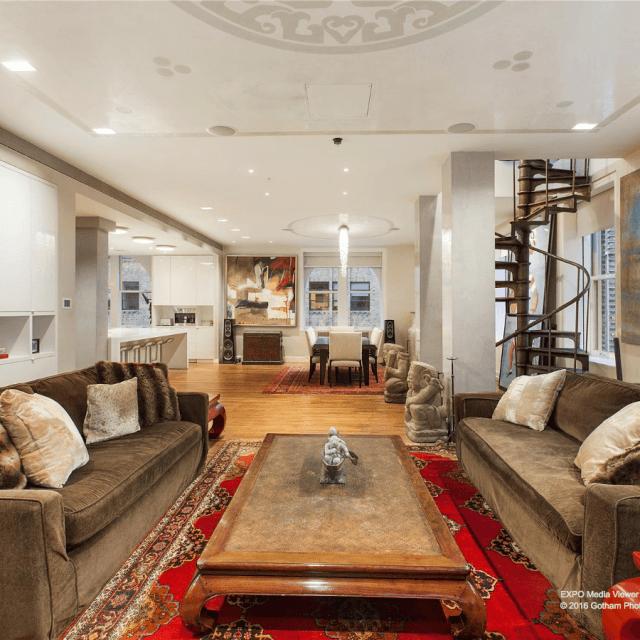 Duplex penthouse atop a prewar Tribeca condo renting for $25,000/month