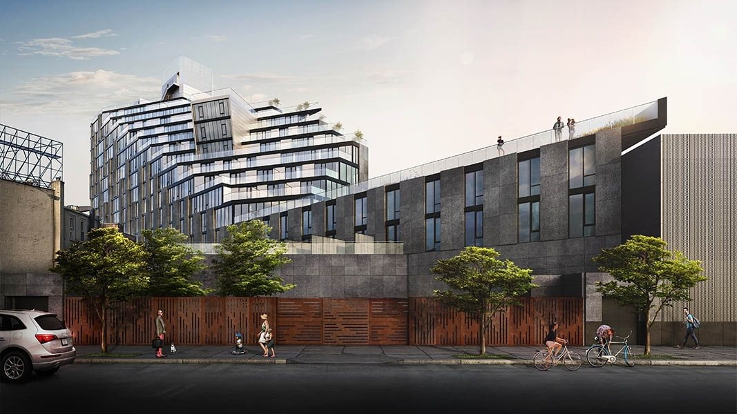 KBA Architects reveal ziggurat-like tower for Kellogg's Diner-adjacent site in Williamsburg