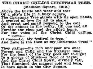 madison square park, christmas tree, public christmas tree, christmas, xmas, holiday, history