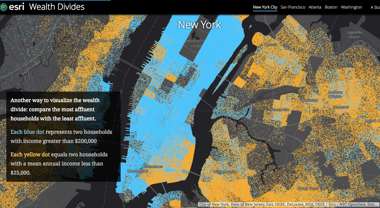 Interactive Map Of New York City.Interactive Map Reveals The Income Gap That Divides Nyc S Richest