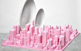 Skyline dish rack, Inception dish rack, Luca Nichetto, 3D model of Manhattan