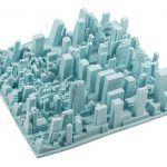 Skyline dish rack, Inception dish rack, Luca Nichetto, 3D model of Manhattan