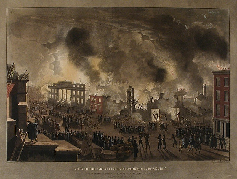 The Great Fire Of 1835 Devastated Lower Manhattan 181 Years Ago