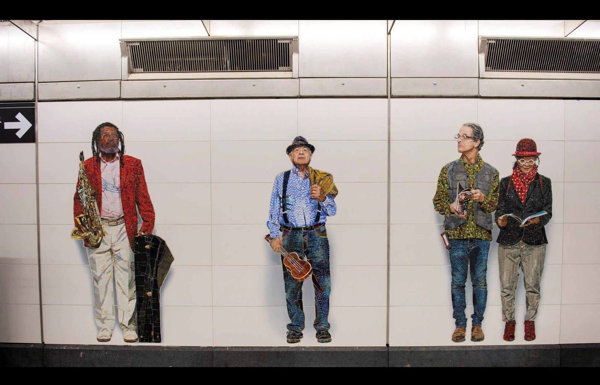 Second Avenue Subway, Second Avenue Subway art, Second Avenue Subway design, subway art, art nyc, Chuck Close, Vik Muniz