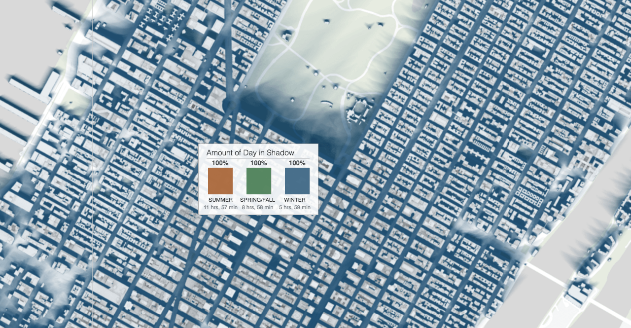Interactive Map Of New York City.Interactive Map Reveals The Shadows Cast By Every New York City