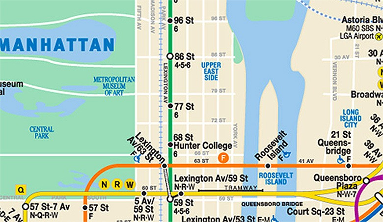 New York City Subway Map January 2001.Ghost Tunnel Under Central Park Will Reopen Along With Second Avenue