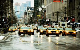 nyc taxicab, fleet of cabs, nyc noise pollution