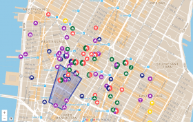 Greenwich Village Society for Historic Preservation, civil rights and social justice map