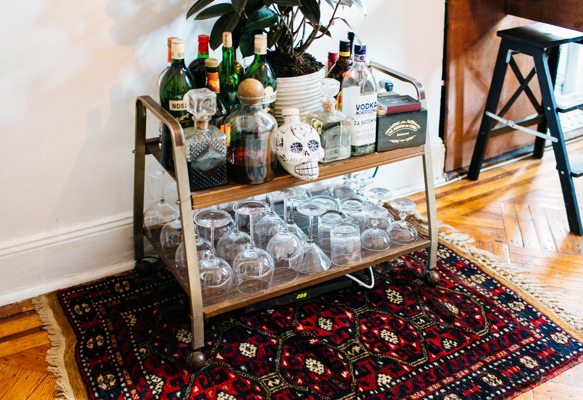 alexandra-king-park-slope-brooklyn-nyc-apartment-mysqft-liquor-shelf-marriage-rug