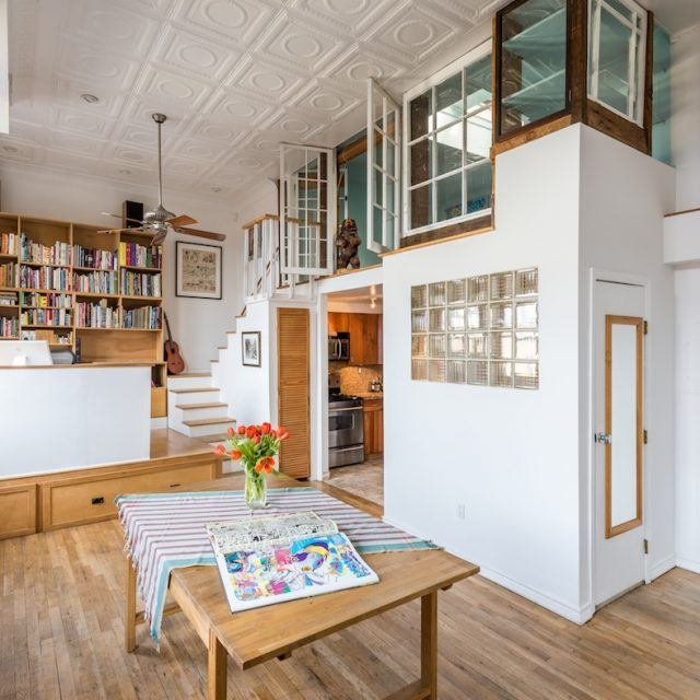 Bright Park Slope condo with unique built-ins, details asks just $675K