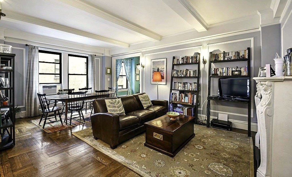 UWS one bedroom asking $3,950/month is loaded with prewar charm