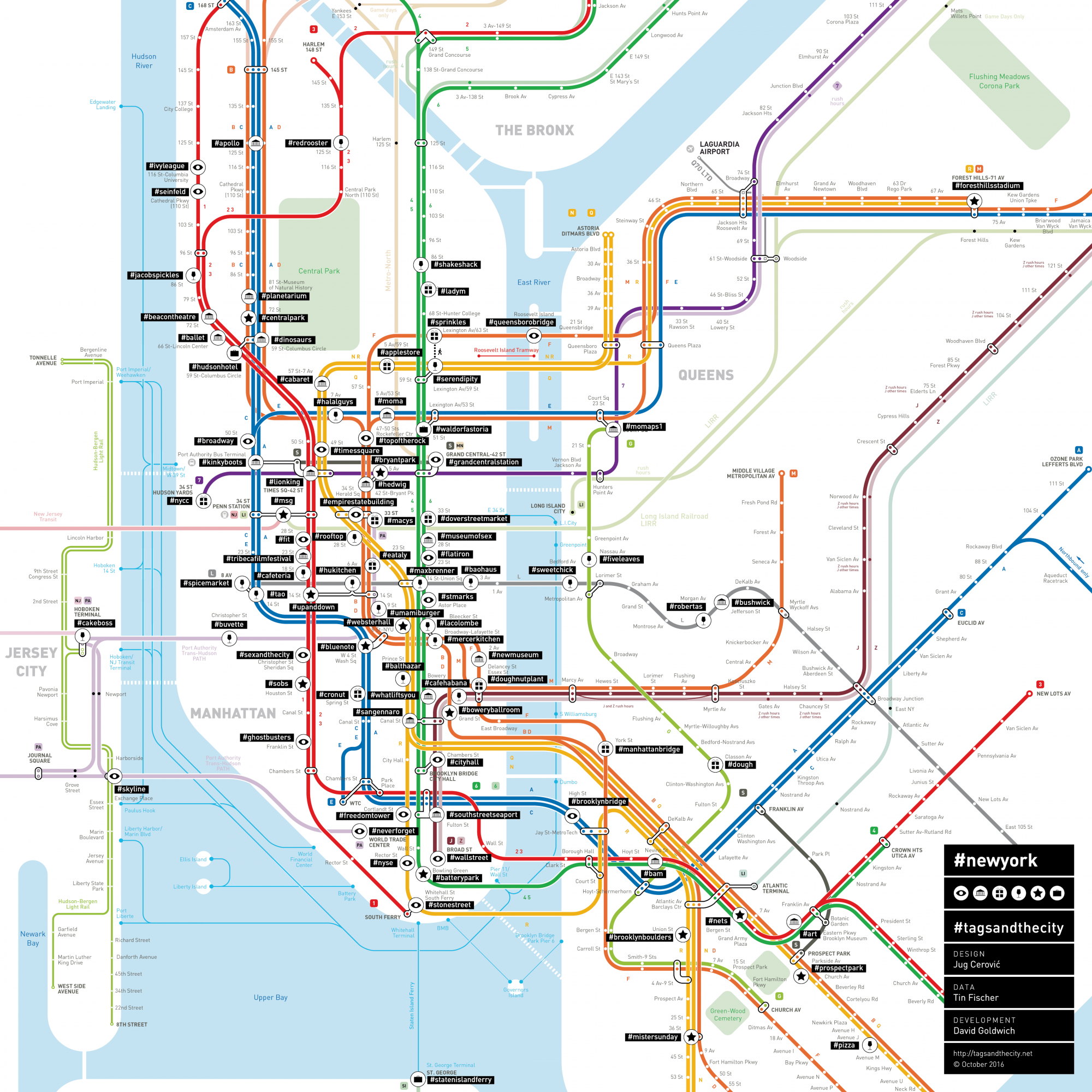 New York City Subway Map January 2001.Mapping Nyc Subway Stops According To Their Most Popular Instagram