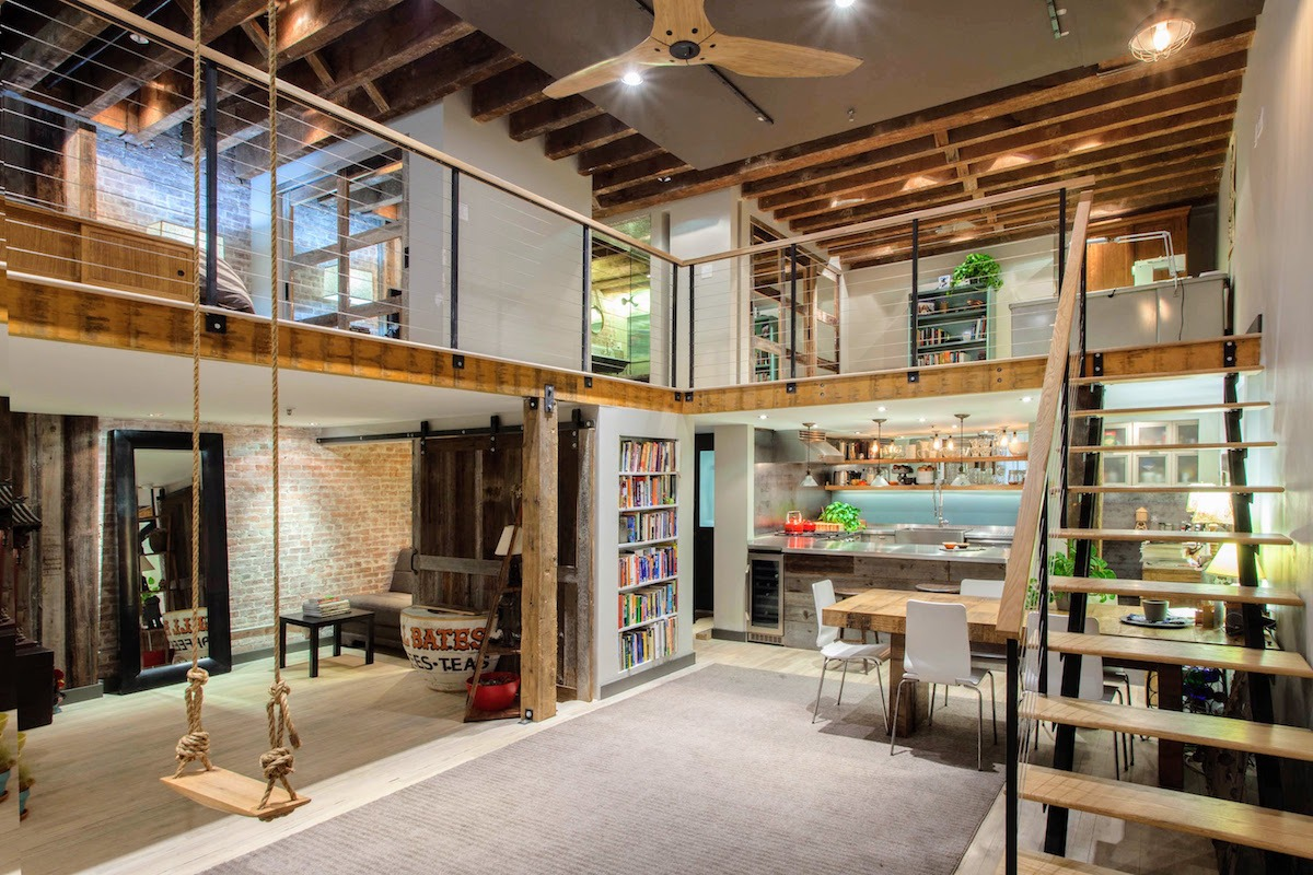 Tribeca loft is equal parts old school downtown and for Interieur loft new york