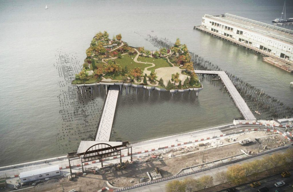 Pier 55 offshore park may be flatter than originally for Hudson park