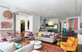 101 Wooster Street, Soho, celebrities, Whoopi Goldberg, loft, cool listings, closet, dressing room, interiors