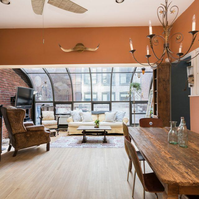 $5K/month shabby-chic Flatiron District co-op has a solarium and private terrace